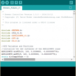 Brewno Program in Arduino IDE