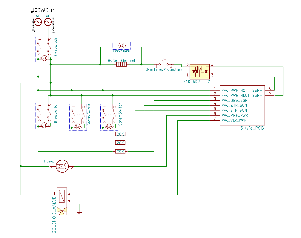 Silvia_Schematic Rancilio Silvia Wiring Diagram on dry puck, failed heating element, power lamp, v5 espresso, pid mod, espresso machine, boiler hoses,